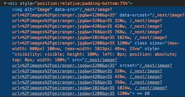 Dev Tools Inspect Showing Src Sets